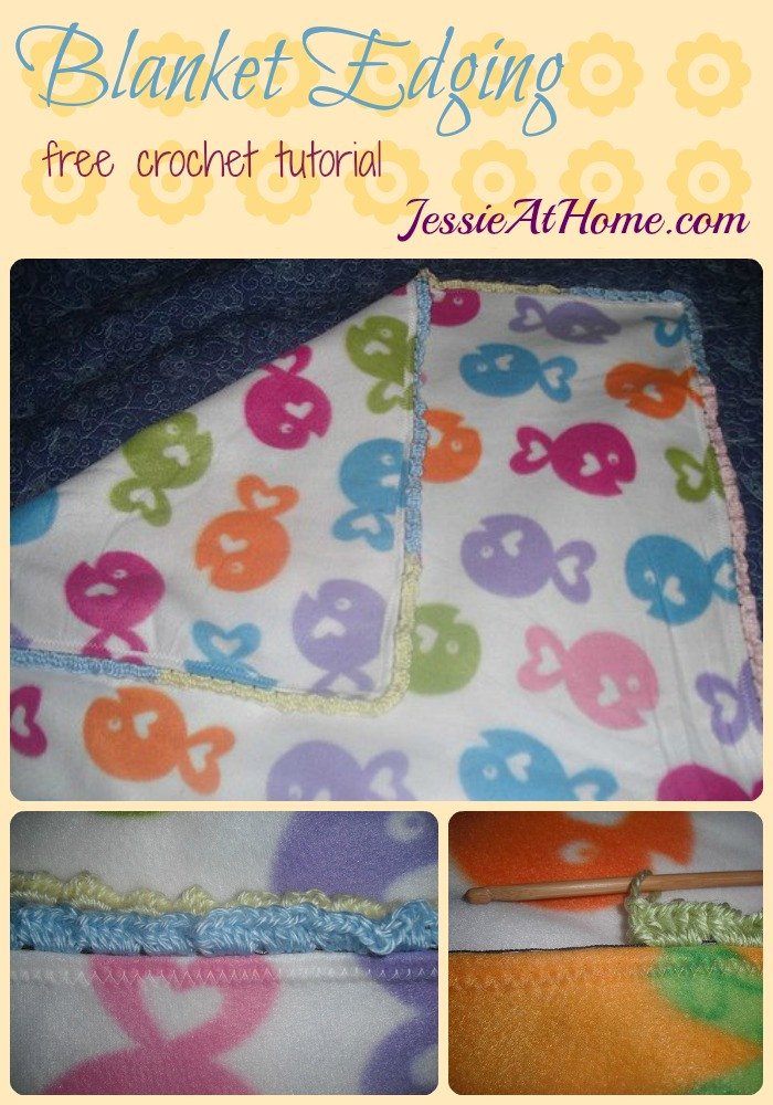 Blanket Edging ~ free crochet tutorial by Jessie At Home