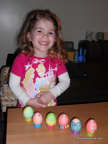Kyla's-first-Easter-eggs
