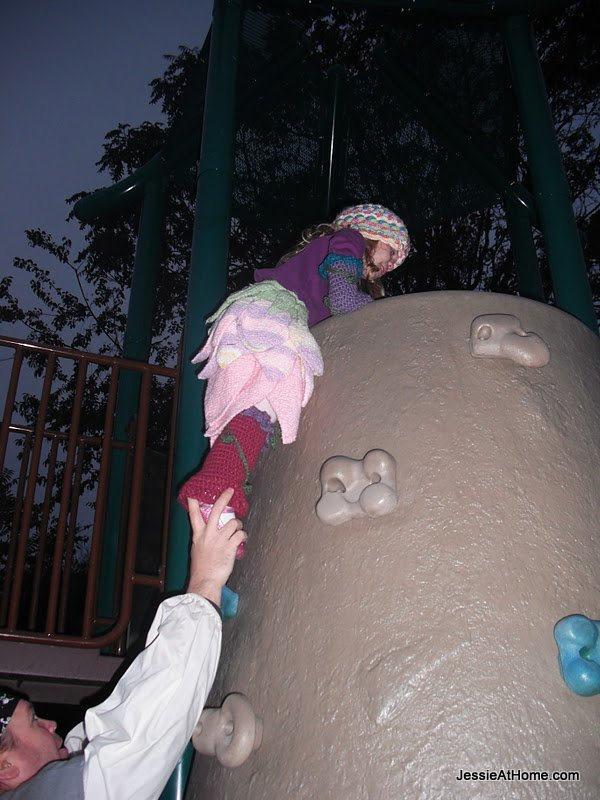 Kyla-Fairy-climbs-the-rock-wall