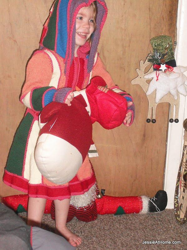 Kyla's-Faerie-Frock-with-snowman