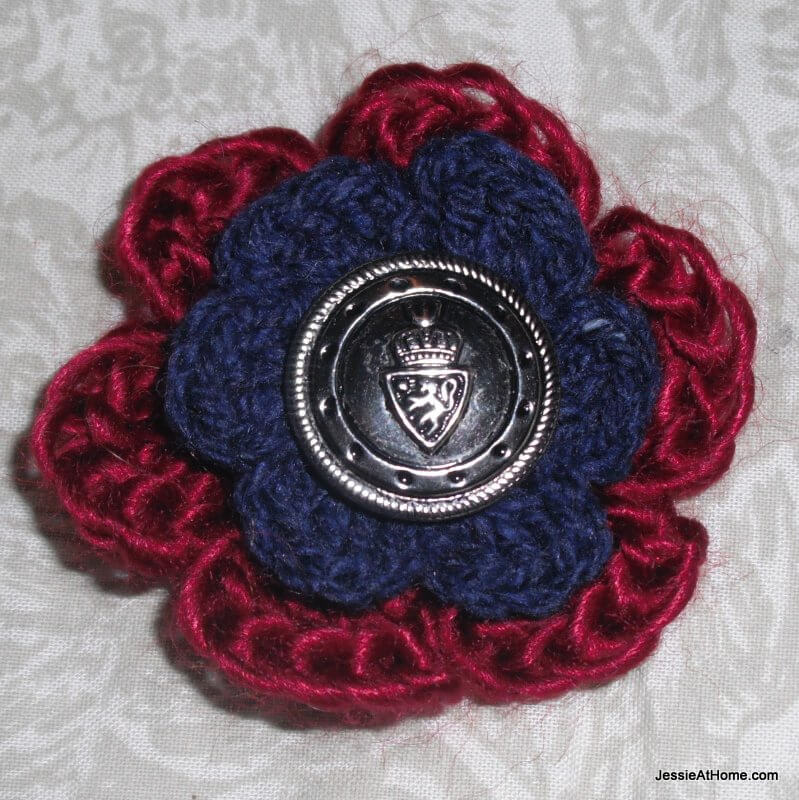 Vintage-Button-Crochet-Flower-Crochet-Pattern