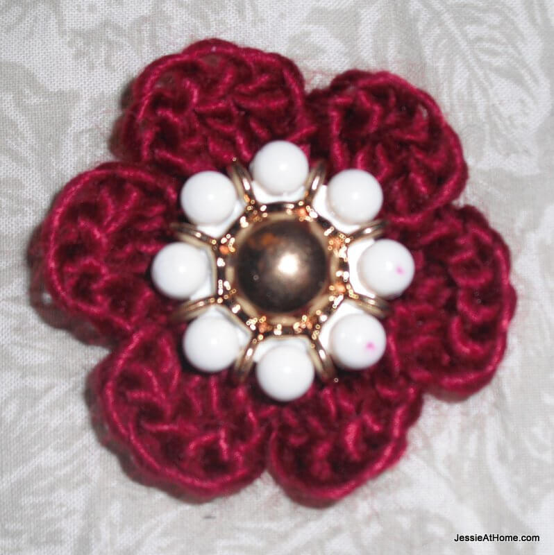 Vintage-Button-Crochet-Flower-Free-Pattern