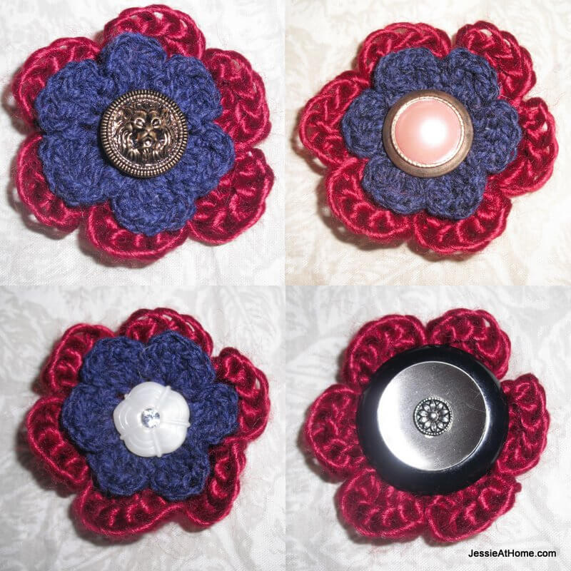 Vintage-Button-Flower-Free-Crochet-Pattern