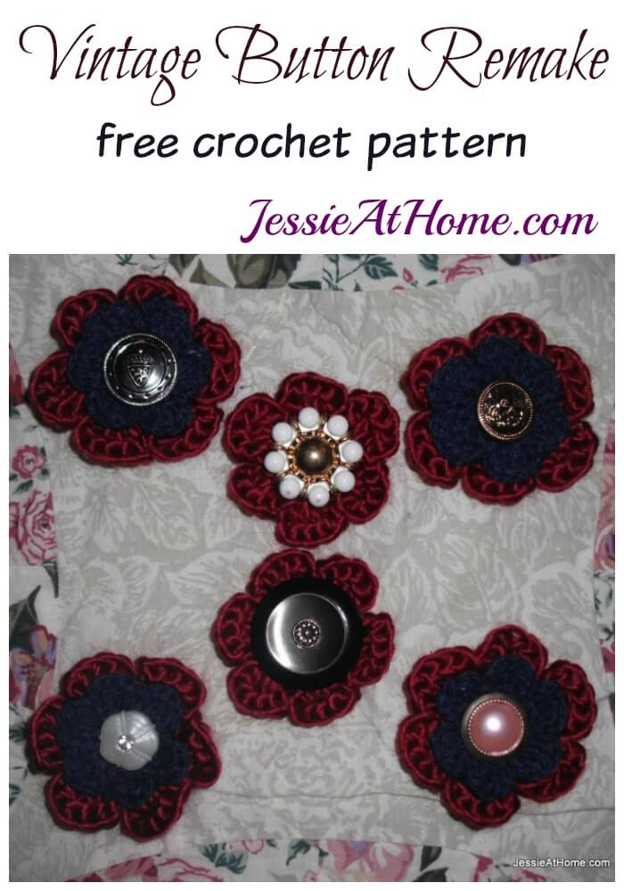 Vintage Button Remake - free crochet pattern by Jessie At Home