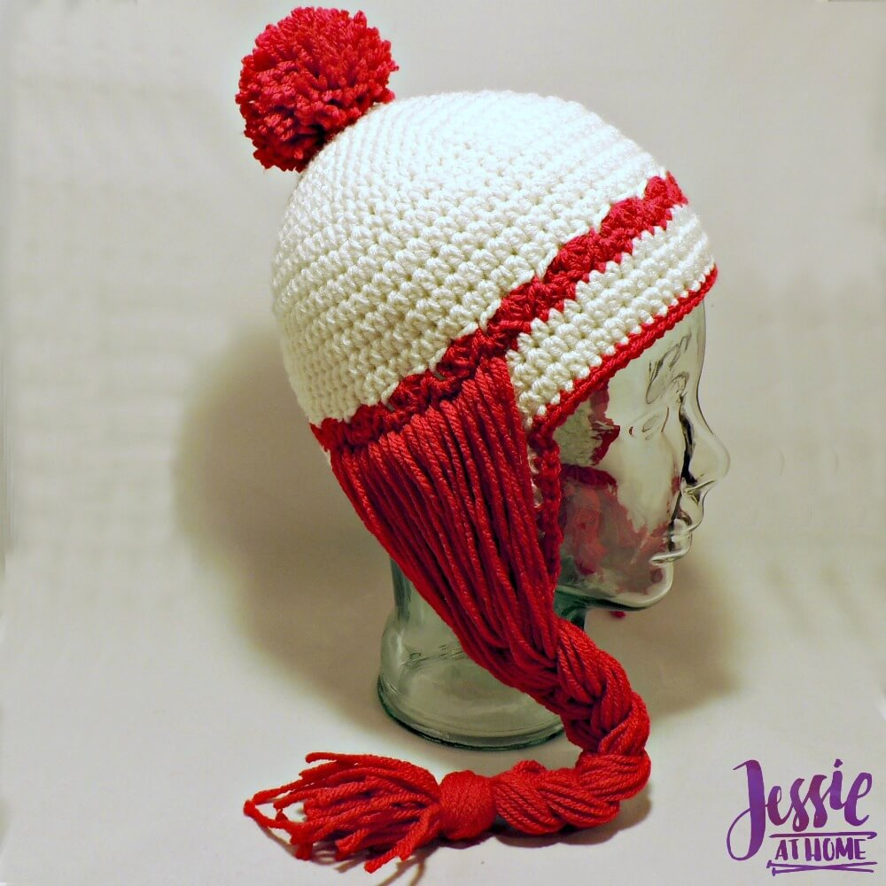 Miss Clause Hat - free crochet pattern by Jessie At Home - 2