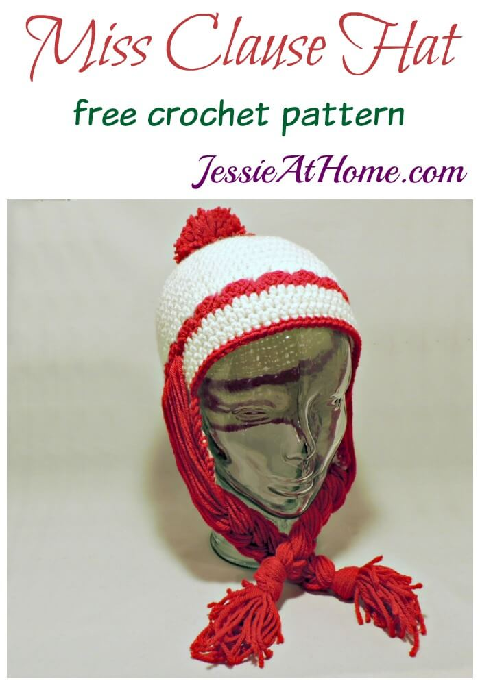 Miss Clause Hat - free crochet pattern by Jessie At Home