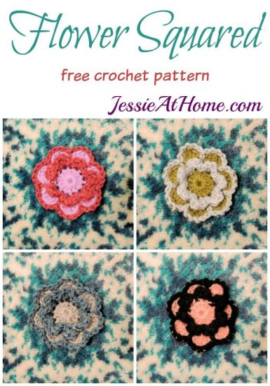 Flower Squared free crochet pattern by Jessie At Home
