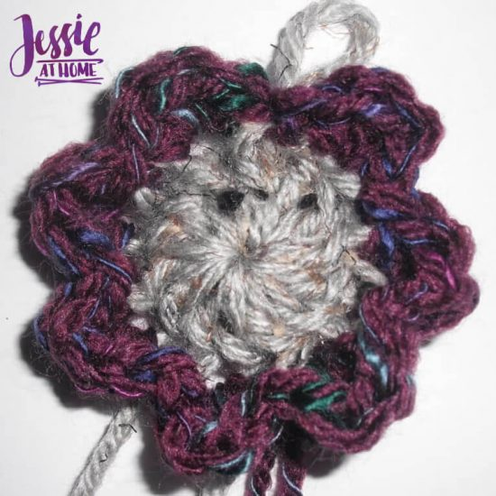 Flower Squared free crochet pattern by Jessie At Home - Round Two