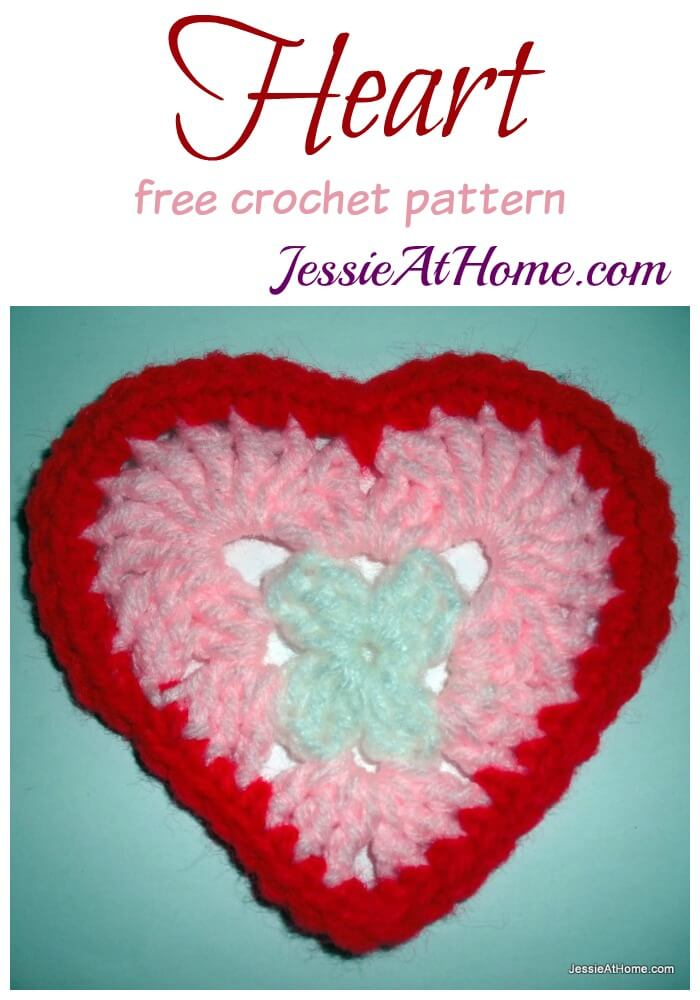 Heart free crochet pattern by Jessie At Home