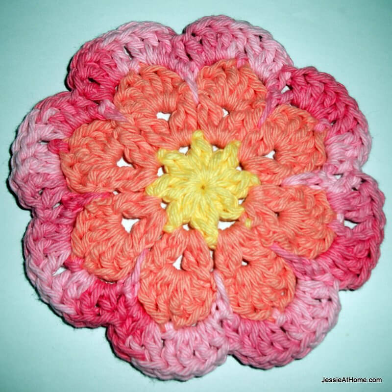Large Flat Flower Motif Coaster Jessie At Home