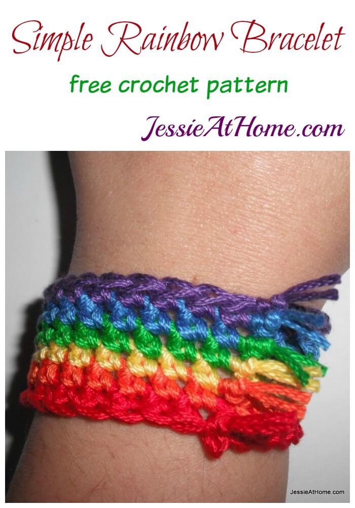 Simple Rainbow Bracelet | Jessie At Home