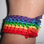 Simple-Rainbow-bracelet-free-crochet-pattern by Jessie-At-Home