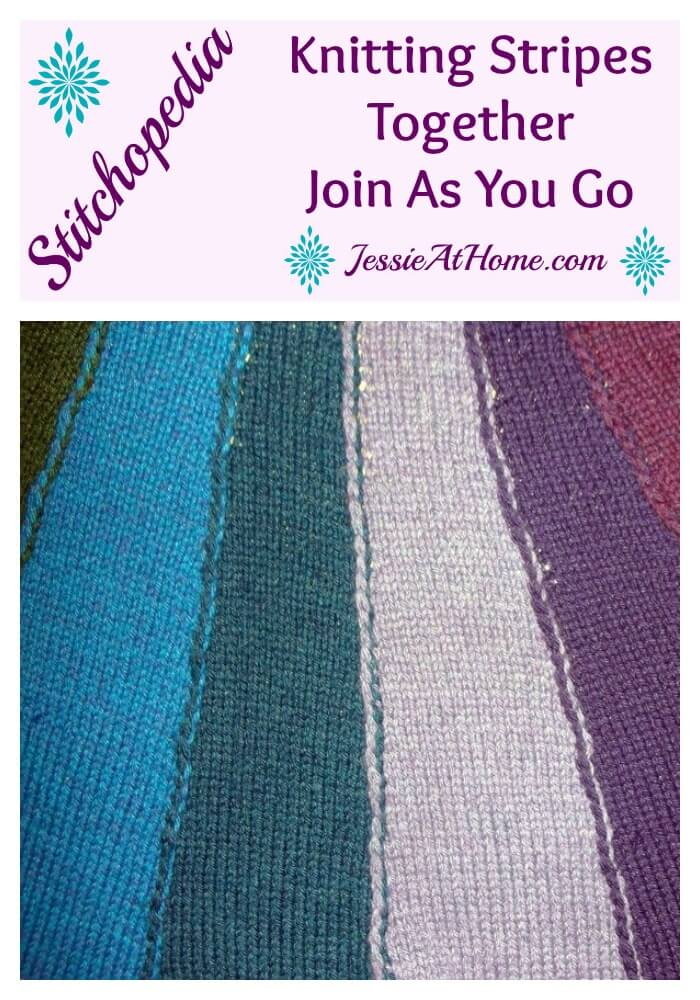 Stitchopedia Knitting Stripes Together Join As You Go