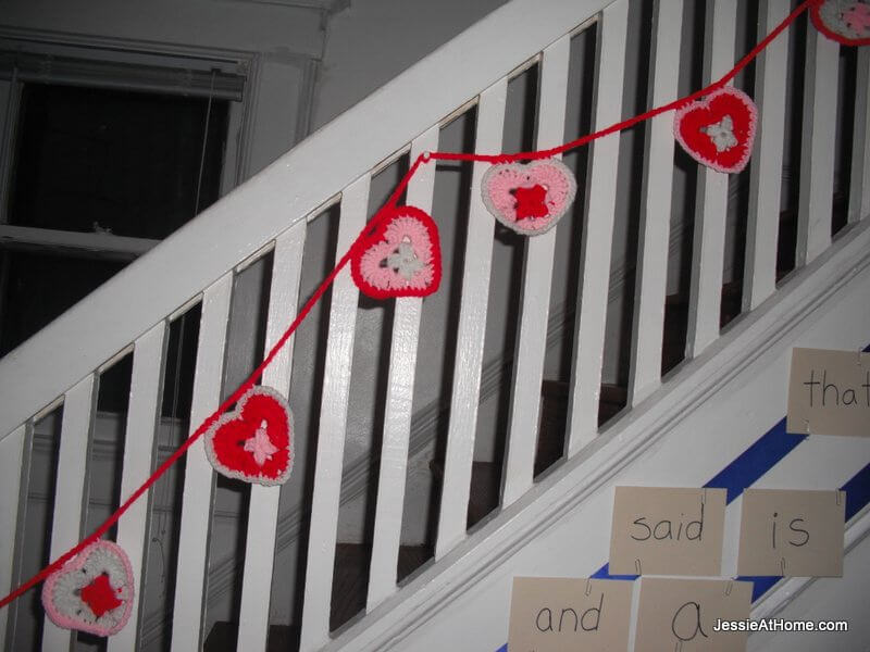 heart-bunting-on-our-stairs