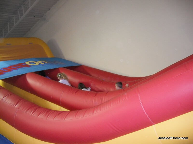 train-up-the-slide at jump-on-in
