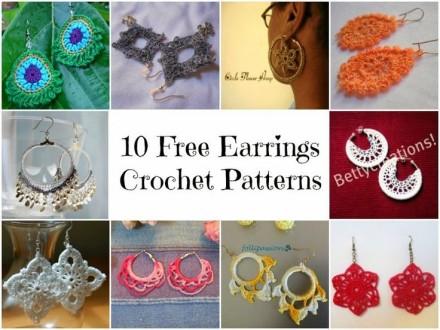 10 Free Earrings Crochet Patterns