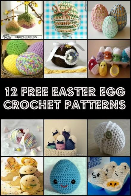 12 Free Easter Egg Crochet Patterns