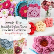 25 Free Flower Crochet Patterns by Daisy Cottage Designs