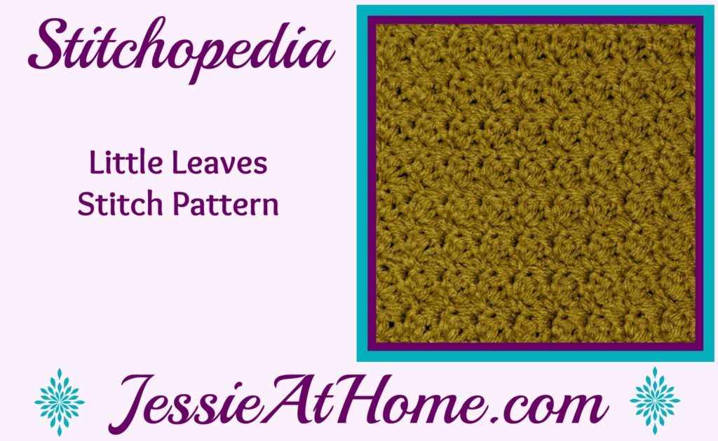 Stitchopedia Little Leaves Stitch from Jessie At Home video cover