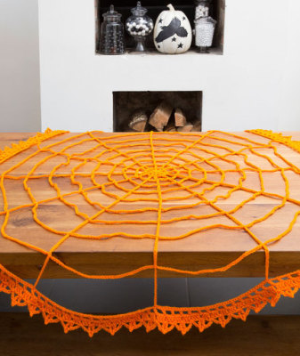 Spider Web Table Topper