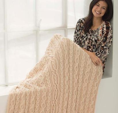 Dancing Cable Afghan