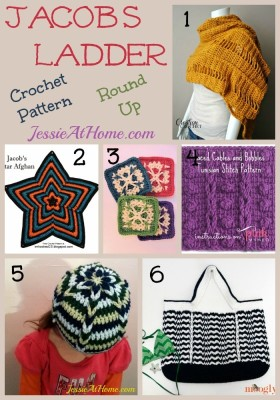 Jacob's Ladder Crochet Pattern Round Up from Jessie At Home
