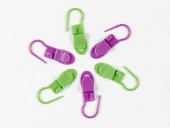 Clover Locking Stitch Markers with Clips 6pc
