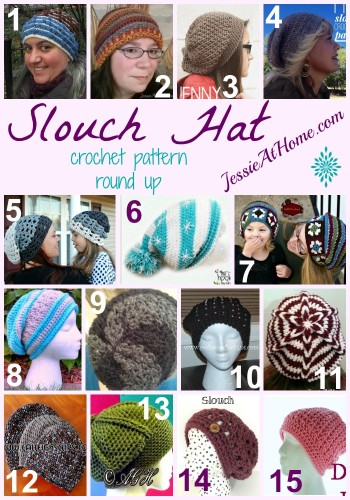 b9b1689e1f4 Slouch Hat Crochet Pattern Round Up from Jessie At Home