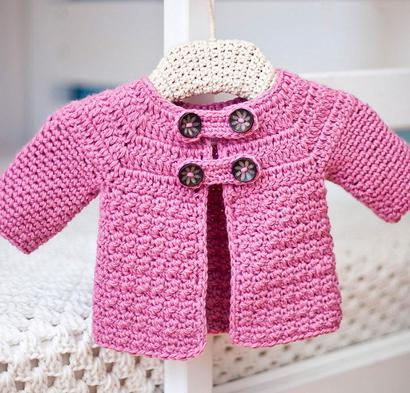 Buttoned Jacket Kit #CrochetKit from @beCraftsy {affiliate link}