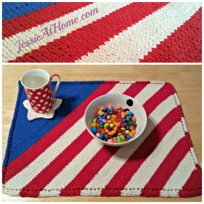 Patriotic Placemat Free Knit Pattern Jessie At Home