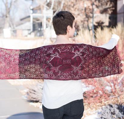 Crimson Blossom Shawl Kit #KnitKit from @beCraftsy