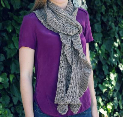Subtle Ruffle Scarf Kit #CrochetKit from @beCraftsy