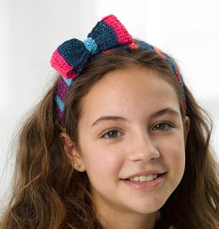 Crochet Headwrap With Bow Kit #CrochetKit from @beCraftsy