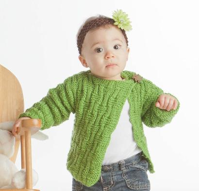 Basket Baby Cardigan Kit #KnitKit from @beCraftsy