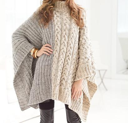 Chatsworth Cable Poncho Kit #KnitKit from @beCraftsy