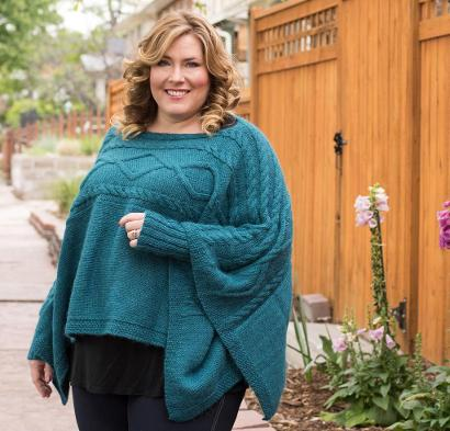 Madison Poncho Kit #KnitKit from @beCraftsy