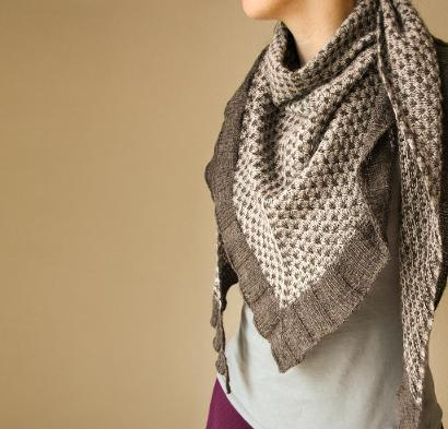 Spark of Grey Shawl Kit #KnitKit from @beCraftsy