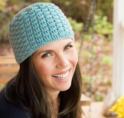Petite Basketweave Beanie Kit #CrochetKit from @beCraftsy
