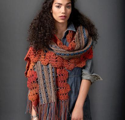 Globetrotter Shawl Kit #CrochetKit from @beCraftsy {affiliate link}