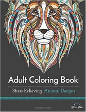Adult Coloring Book - Stress Relieving Animal Designs