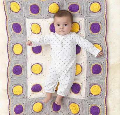 Dotty Dots Afghan Kit #CrochetKit from @beCraftsy