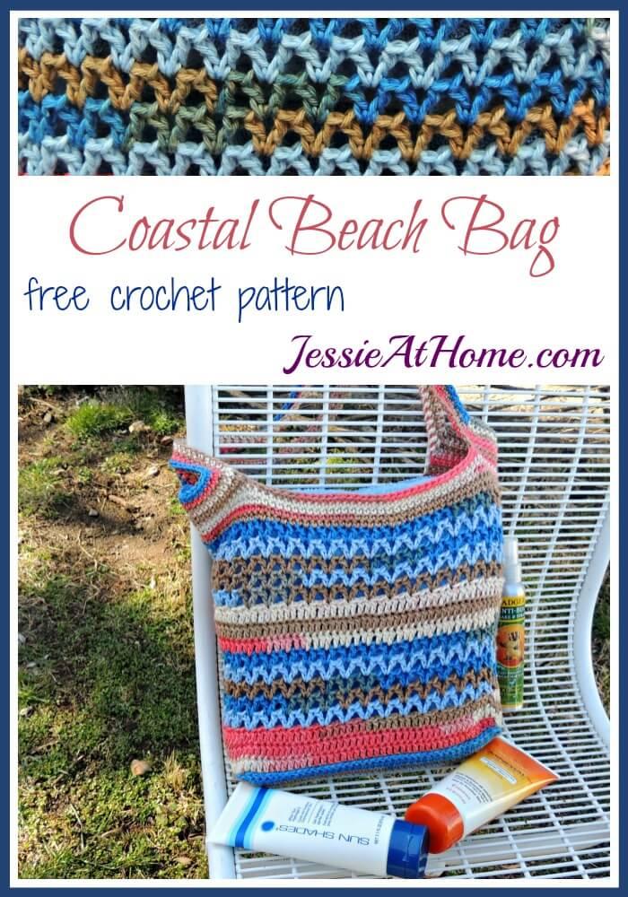 Coastal Beach Bag free crochet pattern by Jessie At Home