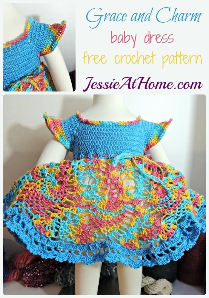 Grace And Charm Baby Dress Free Crochet Pattern Jessie