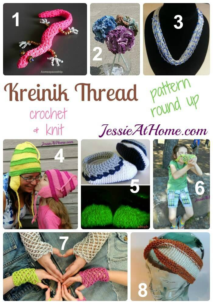 Kreinik Carry Along Thread pattern round up from Jessie At Home