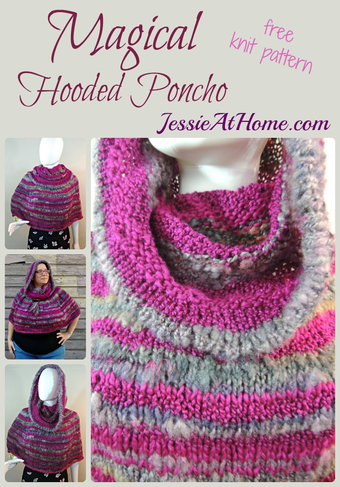 Magical Hooded Poncho - Free Knit Pattern | Jessie At Home