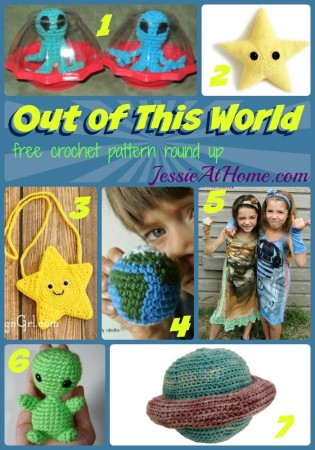 Out of This World - free crochet pattern round up from Jessie At Home