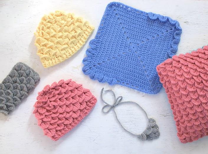 Crocodile Stitch Samples