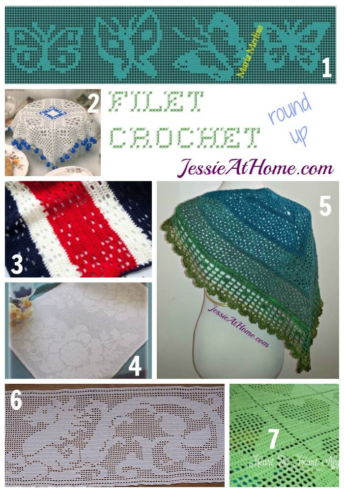 Filet Crochet Pattern Round Up from Jessie At Home