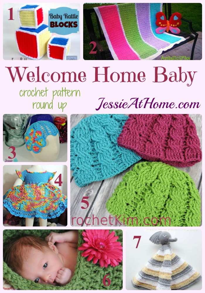 Welcome Home Baby crochet pattern round up from Jessie At Home