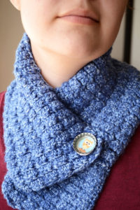 Custom Cowl with Bottle Cap Button